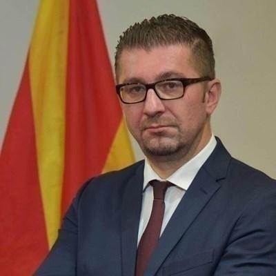 Лидерът на ВМРО-ДПМНЕ Християн Мицкоски СНИМКА: Ройтерс