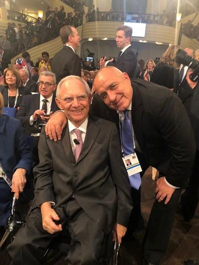 Бойко Борисов с председателя на германския Бундестаг Волфганг Шойбле. Снимка Фейсбук/Бойко Борисов