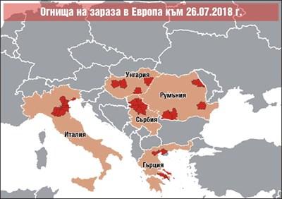 Западнонилската треска идва към нас от 3 страни