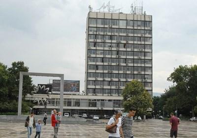 """Бившият партиен дом в Пловдив се извисява на площад """"Централен"""". Снимка: Евгени Цветков СНИМКА: Евгени Цветков"""