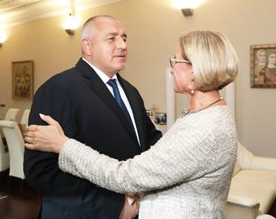 Бойко Борисов и Йоханна Микл-Лайтнер СНИМКА: Министерски съвет