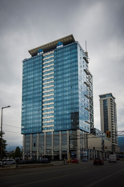 """Сградата на """"ОББ Милениум Център"""" е втората най-висока сграда в столицата. Тя се извисява на 112 метра."""