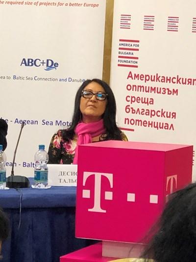 """Десислава Тальокова, изпълнителен директор на фондация """"Америка за България"""". Снимки: Паола Хюсеин"""