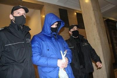 Кристиан Николов в съда  СНИМКА: ВЕЛИСЛАВ НИКОЛОВ/Архив