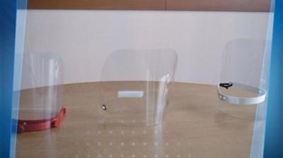 Пластмасовите щитове не били ефективни срещу COVID-19