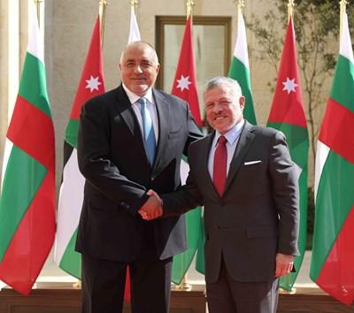 Премиерът Бойко Борисов и крал Абдула Втори