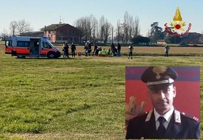 Масимо Пирас след призменяването с парашут СНИМКА: Фейсбук