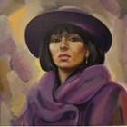 Портрет на Таня Шелхорн от художника Йордан Йорданов - Юри