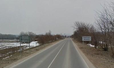 Пътят Кюстендил – Дупница, в района на село Невестино Снимка: Google street view