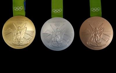 В сребърните и бронзовите медали за олимпиадата в Рио през 2016-а имаше рециклирани ценни метали Снимка Ройтерс