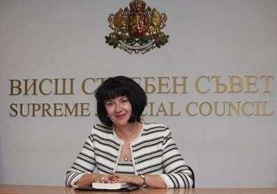 Цветинка Пашкунова - член на Висшия съдебен съвет, избрана от квотата на съдиите. Говорител е на съдийската колегия. СНИМКА: Николай Литов