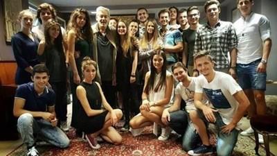 Стефан Данаилов със студентите си