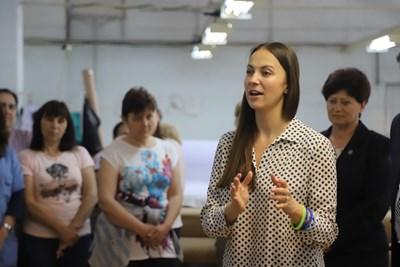Ева Майдел в Харманли СНИМКИ: пресцентърът на ГЕРБ