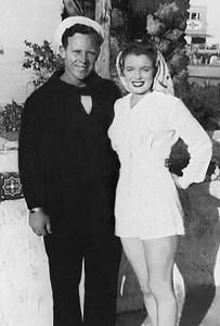 С първия й съпруг Джеймс Дохърти, около 1943 – 44 година