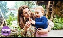 Кралското семейство в градината на Кейт