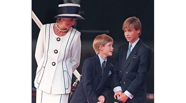 Принцеса Даяна умира в страх, че ще отнемат децата й