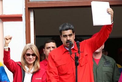 Президентът на Венецуела Николас Мадуро  СНИМКА: Ройтерс