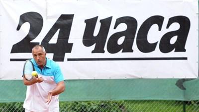 """Борисов на тенис турнира на """"24 часа"""" СНИМКА: 24  часа"""