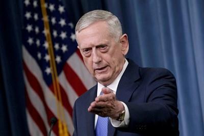 Американският министър на отбраната Джим Матис  СНИМКА: Ройтерс
