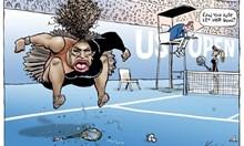 Тази карикатура е великолепна и засяга най-вече неспособността на един велик играч да губи