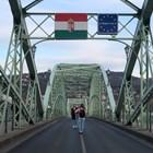 Границата между Унгария и Словакия СНИМКА: РОЙТЕРС