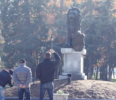 Връщането на лъва пред НДК бе една от каузите, които обединяваха през 2017 г.  СНИМКА: РУМЯНА ТОНЕВА