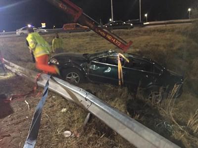 Колата на Петков е излетяла от виадукта