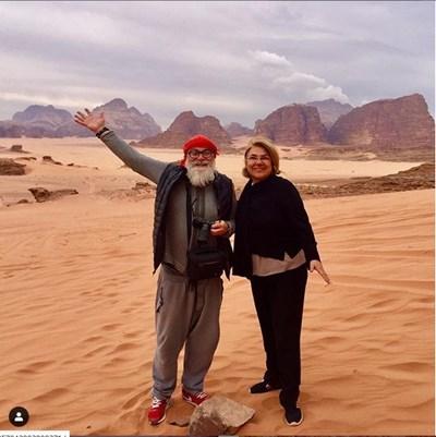 Мартина и Владо в пустинята Вади Рум