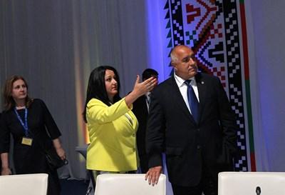 Лиляна Павлова и Бойко Борисов преди неформалната вечеря снощи СНИМКА: фейсбук/Българско председателство на Съвета на ЕС