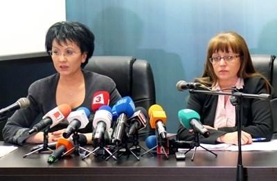 Прокурорите Румяна Арнаудова и Наталия Николова (отляво надясно) СНИМКА: Десислава Кулелиева