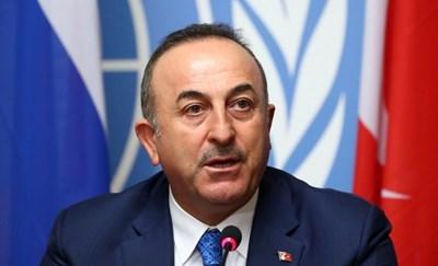 Министърът на външните работи на Турция Мевлют Чавушоглу днес осъди решението, като заяви, че това е политическо шоу. СНИМКА: РОЙТЕРС