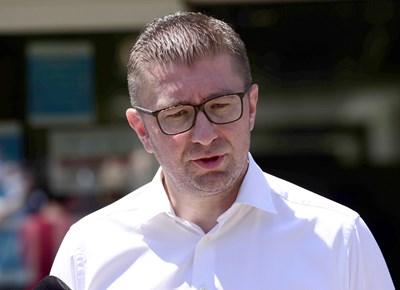 Лидерът на ВМРО-ДПМНЕ Християн Мицкоски. Снимка Ройтерс