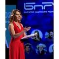"""Ива Дойчинова на миналогодишната церемония на кампанията """"Будител на годината"""" СНИМКА: БНР"""