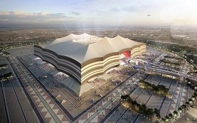 """Така ще изглежда стадион """"Ал Байт"""", на който ще бъде открито световното първенство по футбол в Катар през 2022 г. СНИМКА: QATAR2022.QA"""