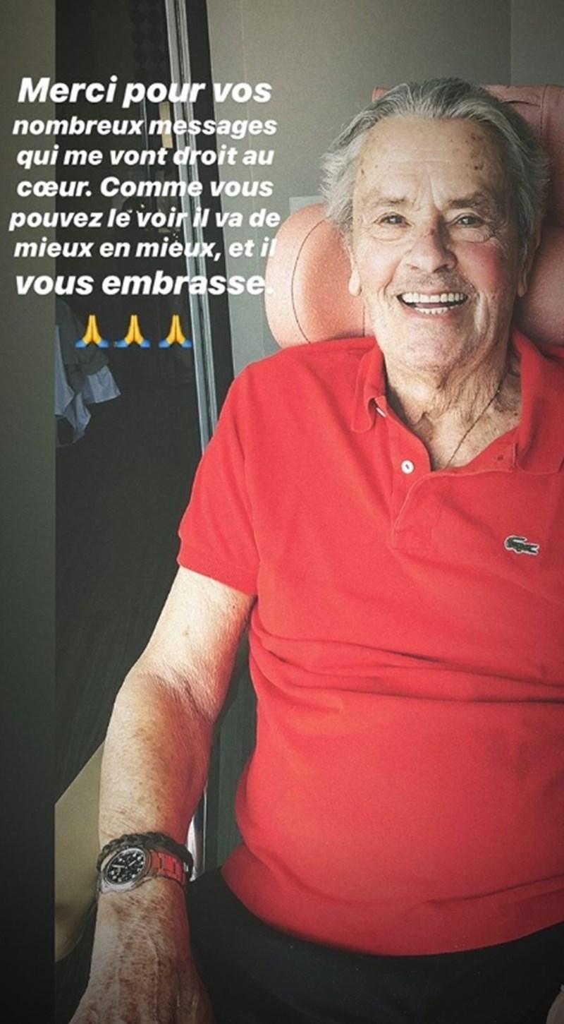 Ален Делон се възстановява добре, показа сина му на снимка в инстаграм  СНИМКА: инстаграм/alainfabiendelon