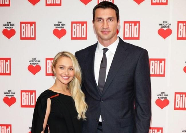 Актрисата Хейдън Пенетиър и годеникът й Владимир Кличко. СНИМКА: Ройтерс