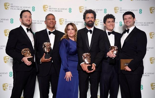 """Екипът с награда за най-добра анимация за филма """"Спайдърмен"""""""
