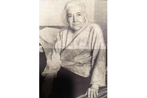 Люба Кутинчева, снимана от журналиста и пътешественик Ясен Антов в началото на 1998 г. Няколко месеца по-късно тя умира.