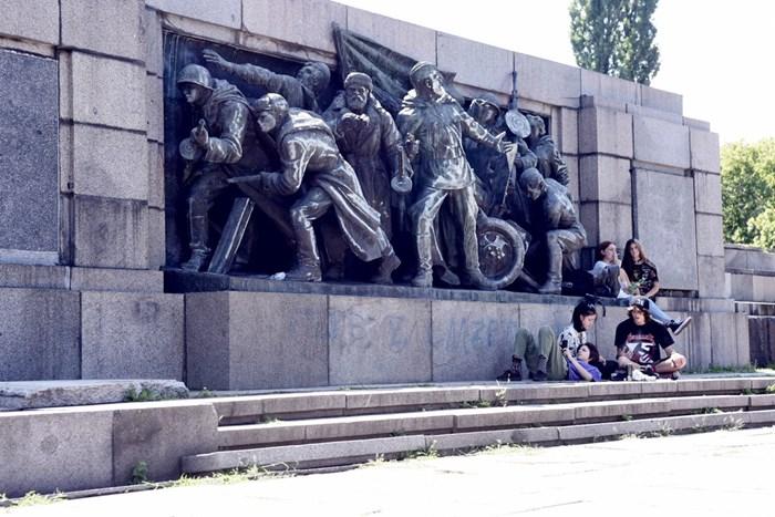 Паметникът на Съветската армия. СНИМКИ: Велислав Николов