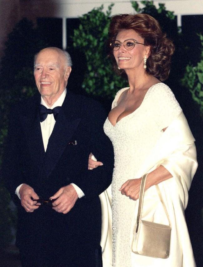 със съпруга си Карло Понти, снимка: Reuters