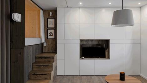 Спалня в дървена кутия (галерия)