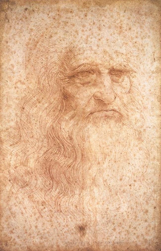 """Прочутият автопортрет на Леонардо се съхранява в Кралската библиотека в Торино. СНИМКА: """"УИКИПЕДИЯ"""""""