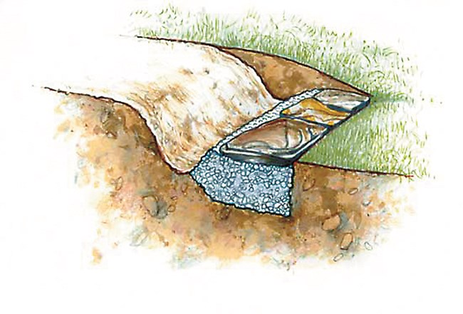 Поставете широки камъни на дълбоко чакълесто легло за първото стъпало, за да сте сигурни, че не се утаяват и наклоняват.