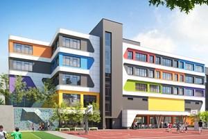"""Проектът за новото основно училище, което общината ще построи в """"Манастирски ливади-запад""""."""