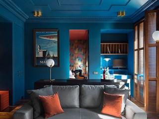 Наситено синьо в жилището (галерия)