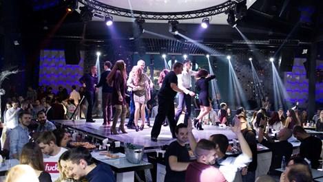 Грандиозно парти в центъра на София с неждано светлинно шоу