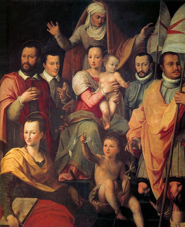 Фамилията Медичи, нарисувана от Бутери през 1575 г.