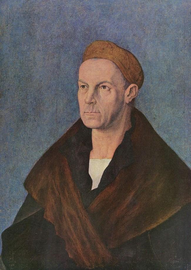 Якоб Фугер, нарисуван  от Дюрер  през 1519 г.