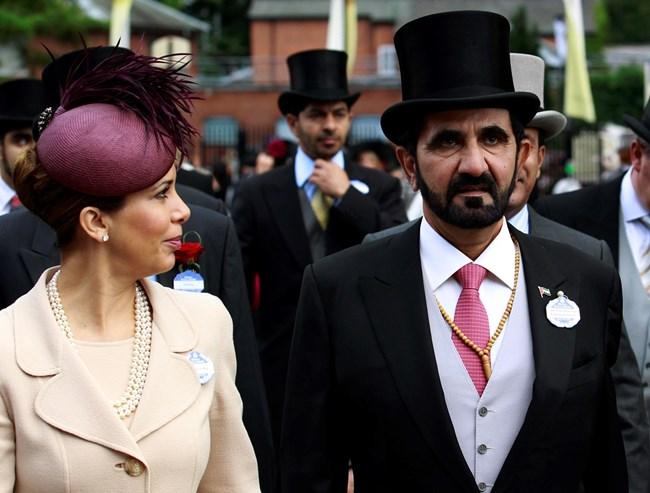 Принцеса Хая и съпругът й шейх Мохамед бин Рашид ал Мактум