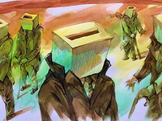 Анри Кулев нарисува как депутатите съчетават избори с предпазни мерки